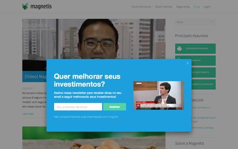 Screenshot of Blog magnetis.com.br - Tudo sobre investimentos é aqui! | Blog Magnetis Conteúdo sobre finanças pessoais, investimentos e fintechs - captured Sept. 30, 2017