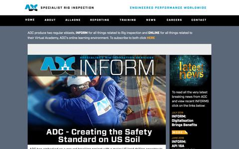 Screenshot of Press Page adc-engineering.com - ADC   Latest News - captured Oct. 2, 2018