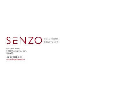 Screenshot of Home Page agence-senzo.fr - Agence digitale SENZO - Création de site web internet - captured Sept. 30, 2014