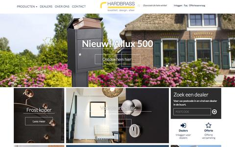 Screenshot of Home Page hardbrass.nl - Home page   Hardbrass B.V. - captured Sept. 20, 2015