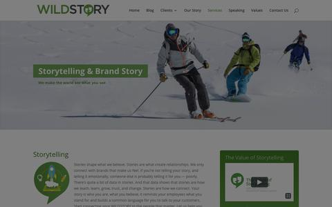 Screenshot of Services Page wildstory.com - Public Relations Services | WILDSTORY - captured Nov. 5, 2017