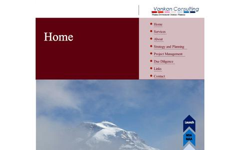Screenshot of Home Page vankan.ch - Home - captured Oct. 7, 2014