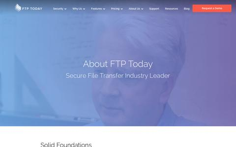 Screenshot of About Page ftptoday.com - About FTP Today | Secure File Transfer Leader | FTP Today - captured Jan. 8, 2016