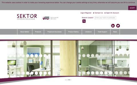 Screenshot of Home Page sektorinteriors.com - Sektor Interior Solutions | Interior Specialist - captured Feb. 3, 2016