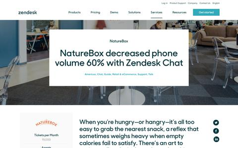 Screenshot of Support Page zendesk.com - NatureBox Customer Service Story | Zendesk - captured Aug. 4, 2018