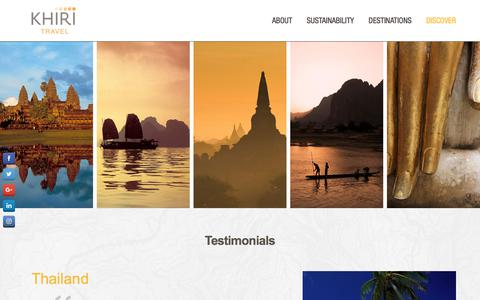 Screenshot of Testimonials Page khiri.com - Testimonials - captured July 5, 2017