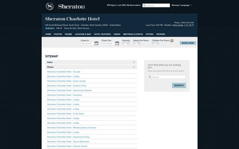 Screenshot of Hours Page sheratoncharlottehotel.com - Sheraton Charlotte Hotel | Official Website | Best Rates, Guaranteed. - captured Feb. 12, 2016