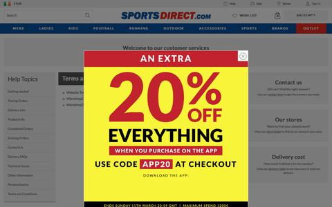Screenshot of Terms Page sportsdirect.com - Terms and Conditions   SportsDirect.com Ireland - captured March 9, 2018