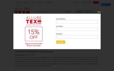 Screenshot of Press Page alluretex.com - News - captured Nov. 20, 2016