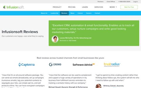Infusionsoft User Reviews | Infusionsoft