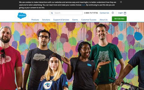 Screenshot of Jobs Page salesforce.com - Equality - Salesforce.com - captured Oct. 9, 2018