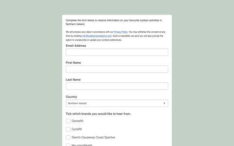 Screenshot of Signup Page list-manage.com - Consumer Brands - captured Oct. 26, 2018