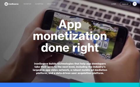 App monetization done right   ironSource