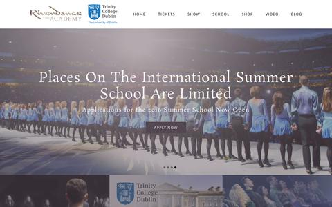 Screenshot of FAQ Page riverdance.com - Riverdance Summer School - captured Jan. 20, 2016