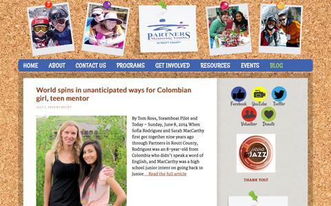 Screenshot of Blog partnersrouttcounty.org - Blog - captured Oct. 1, 2014