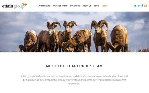 Screenshot of Team Page ettaingroup.com - ettain group - ettain group - captured March 16, 2019