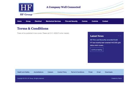 Screenshot of Terms Page hf-group.co.uk - Terms & Conditions - HF Group - captured Dec. 5, 2015