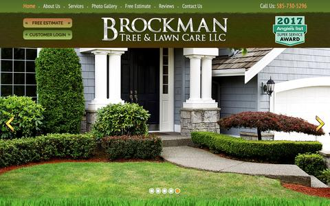 Screenshot of Home Page brockmantreeandlawncare.com - Fairport, NY Lawn Care Services | Tree Services - Brockman Tree & Lawn Care - captured Oct. 6, 2018