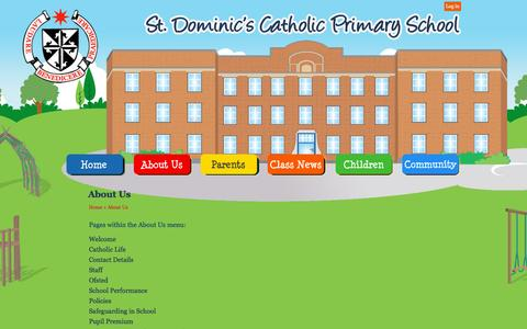 Screenshot of About Page stdominics.camden.sch.uk - About Us | St Dominic Catholic Primary School - captured May 20, 2016