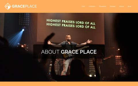 Screenshot of About Page graceplace.org - About - Grace Place - captured Nov. 5, 2018