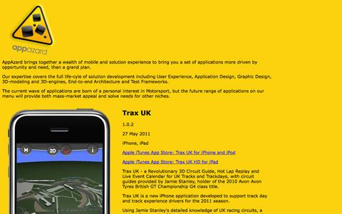 Screenshot of Home Page appazard.co.uk - AppAzard - captured Sept. 30, 2014