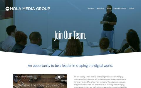 Screenshot of Jobs Page nolamediagroup.com - Career Opportunities | New Orleans | Louisiana - captured Sept. 22, 2018