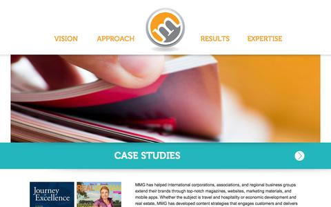 Screenshot of Case Studies Page mcneill-group.com - McNeill Media Group - captured Sept. 23, 2014