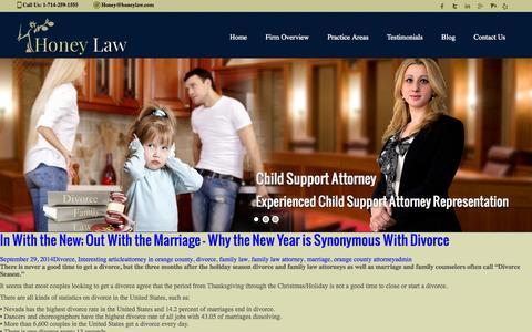 Screenshot of Testimonials Page honeylaw.com - Testimonials  | Honey Law - captured Nov. 1, 2014