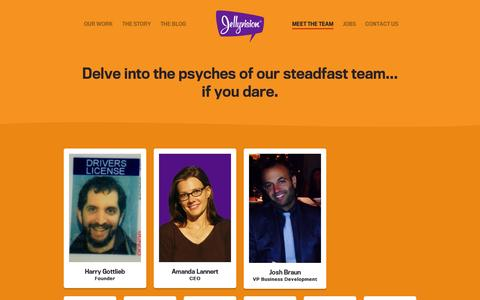 Screenshot of Team Page jellyvision.com - Team Members | Jellyvision - captured Sept. 11, 2014