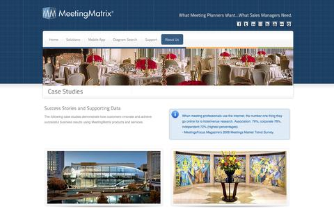 Screenshot of Case Studies Page meetingmatrix.com - MeetingMatrix Case Studies - captured Oct. 27, 2014
