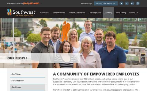 Screenshot of Team Page southwest.ca - Careers | Southwest Properties - captured Nov. 8, 2017