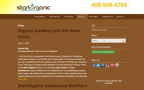 Screenshot of Press Page startorganic.org - Press - StartOrganic - captured Oct. 1, 2014
