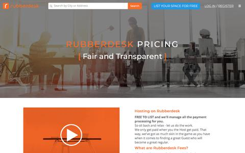 Screenshot of Pricing Page rubberdesk.com - Rubberdesk Pricing - It's FREE to list! - captured July 7, 2018