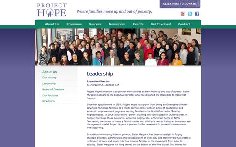 Screenshot of Team Page prohope.org - Project Hope - Leadership - captured Oct. 3, 2014