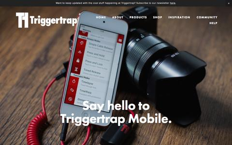 Screenshot of Home Page triggertrap.com - Triggertrap | The most powerful creative camera remotes for iOS and Android - captured Aug. 9, 2015