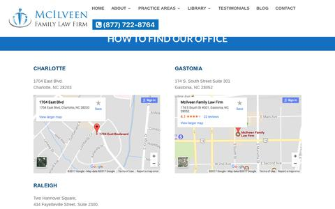 Find Our Office | McIlveen Family Law Firm