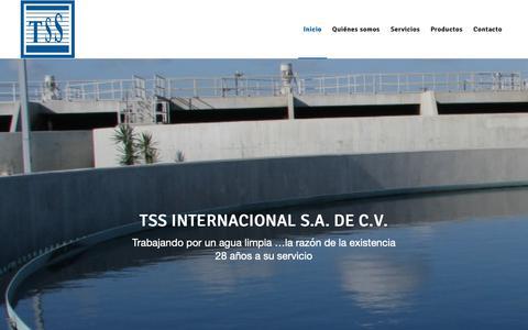 Screenshot of Home Page tssinternacional.com - TSS Internacional - captured Oct. 18, 2018