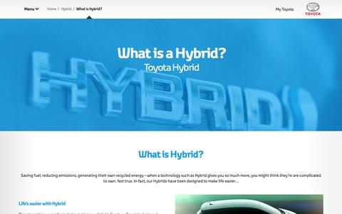 Screenshot of toyota-europe.com - What is a Hybrid?  Toyota Europe - captured April 15, 2016