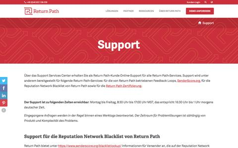 Screenshot of Support Page returnpath.com - Support - Return Path - captured Dec. 5, 2016