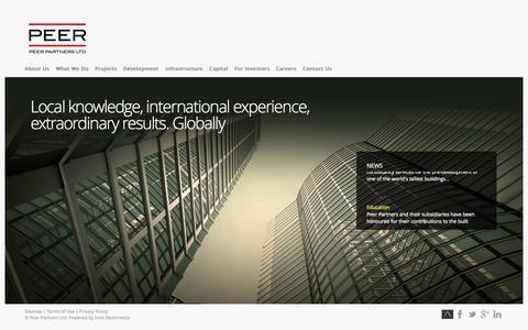 Screenshot of Home Page peer.hk - Peer Partners Ltd. - captured Oct. 2, 2014