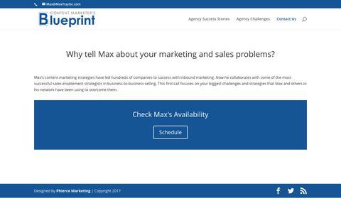 Contact Us - Content Marketing Blueprint