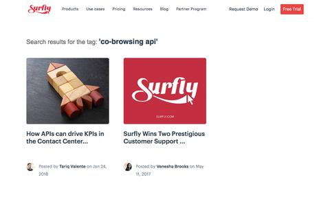 Screenshot of Developers Page surfly.com - co-browsing api Archives - Surfly - captured Jan. 3, 2020