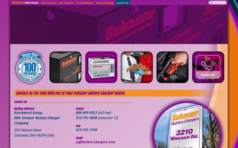 Screenshot of Contact Page battery-chargers.com - Contact Us « Schauer Battery Charger Manufacturers - captured Feb. 17, 2016