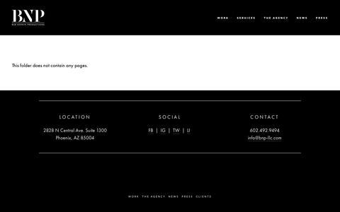 "Screenshot of Services Page bnp-llc.com - <a href=""/branding-identity"">Services</a> — Bar Napkin Productions - captured Feb. 20, 2019"