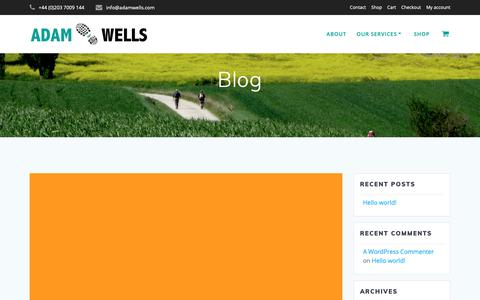 Screenshot of Blog adamwells.com - Blog | Adam Wells - captured Dec. 14, 2018