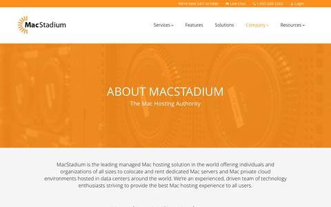 Screenshot of About Page macstadium.com - About MacStadium - captured May 27, 2017