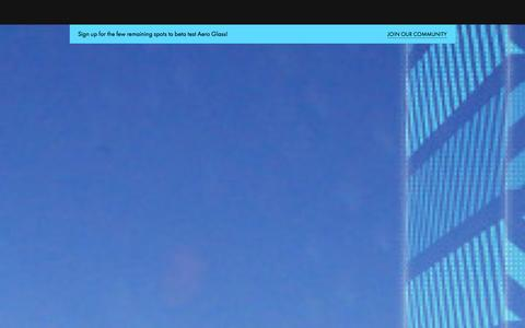 Screenshot of Home Page Contact Page Team Page glass.aero - ·         Aero Glass - captured Oct. 4, 2014