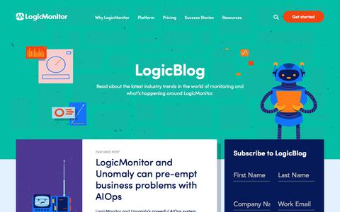 Screenshot of Blog logicmonitor.com - (1) New Message! - captured Jan. 26, 2020