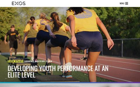 Screenshot of Case Studies Page teamexos.com - Case Studies on Health and Performance - captured Nov. 21, 2017
