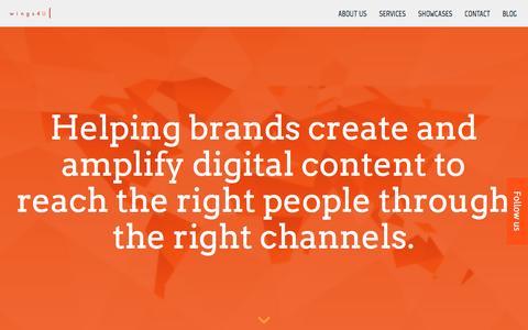 Screenshot of Home Page wings4u.eu - Wings4U - Global B2B Marketing Agency - captured Feb. 14, 2016